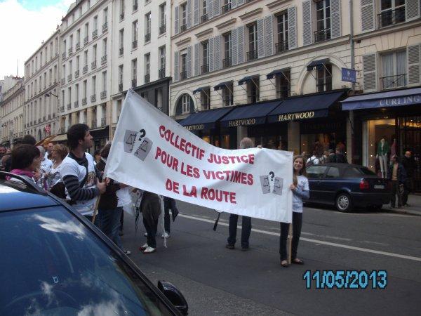 marche blanche du samedi 11 mai 2013 pour toutes les victimes de la route