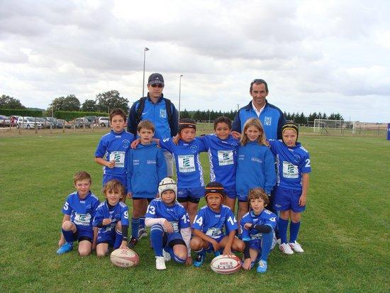 mon titi et sont equipe au rugby - de 9ans