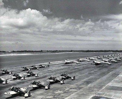 L'attaque sur les aérodromes Us.