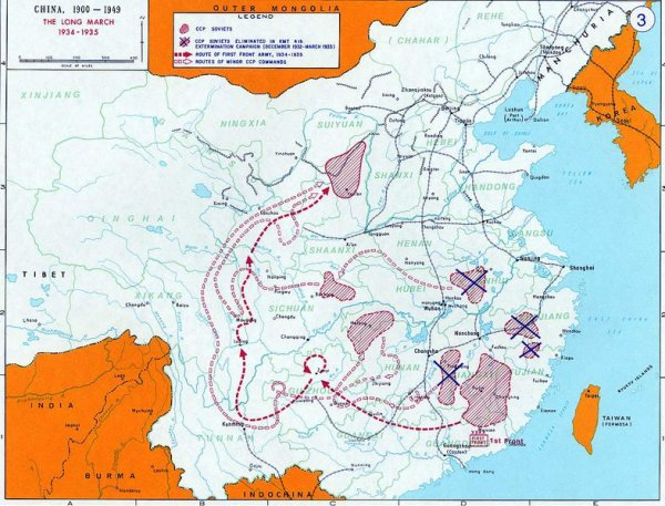 la situation en Chine entre 1916 et 1936.