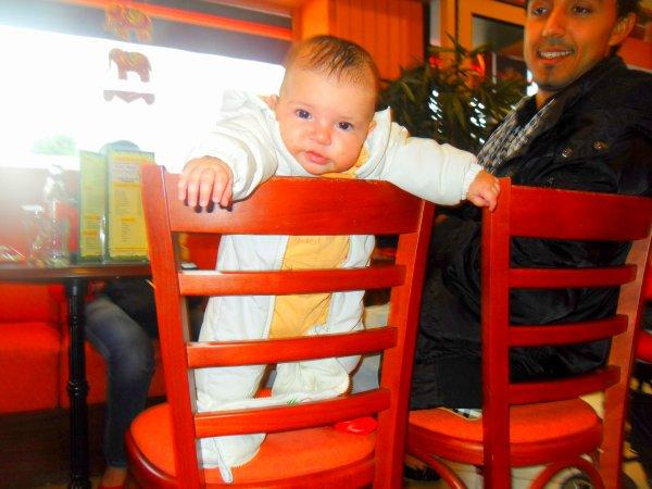 ma petite nièce a 3 mois sa donne sa au bar quesquel a du tonus ma poupette tata qui t'aime