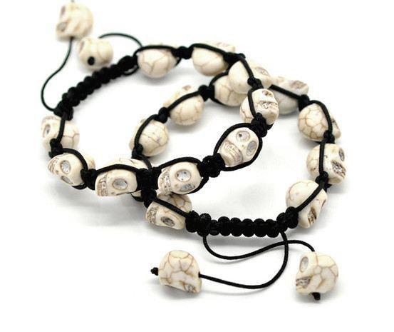 Bracelets Shamballa Skull