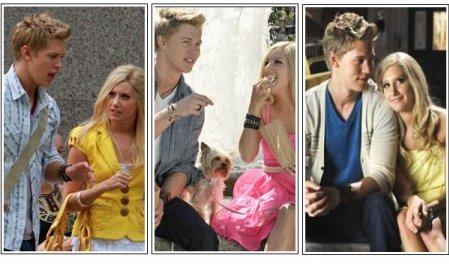 Austin Butler et Ashley Tisdale dans le film sharpay's fabulous adventure
