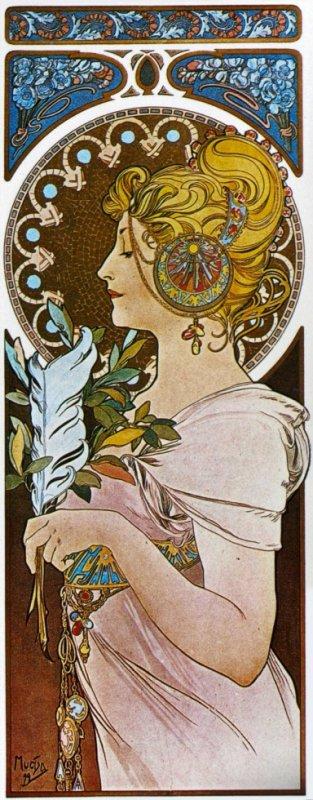 la Plume d'Alfons Mucha