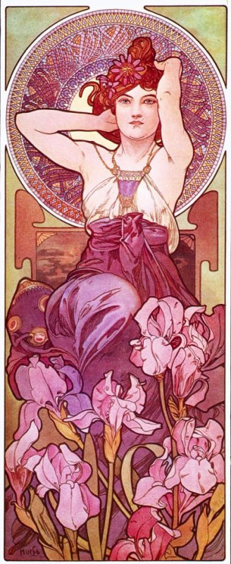 Améthyste by Alfonse Mucha
