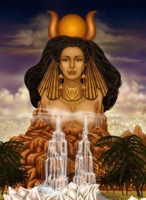 la déesse égyptienne Hathor