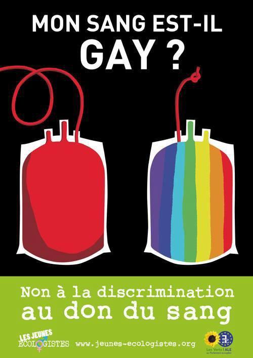 A notre époque, il n'est pas normal qu'il y est encore ce genre de discrimination - #sang #Gay #nondiscrimination