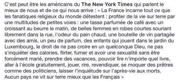 Le New York Times parle si bien de la culture Française