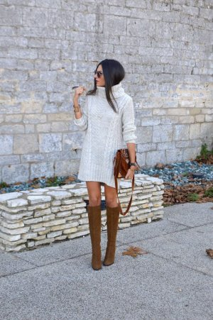 Parlons chiffons : les robe-pull - #mode #hiver #robepull