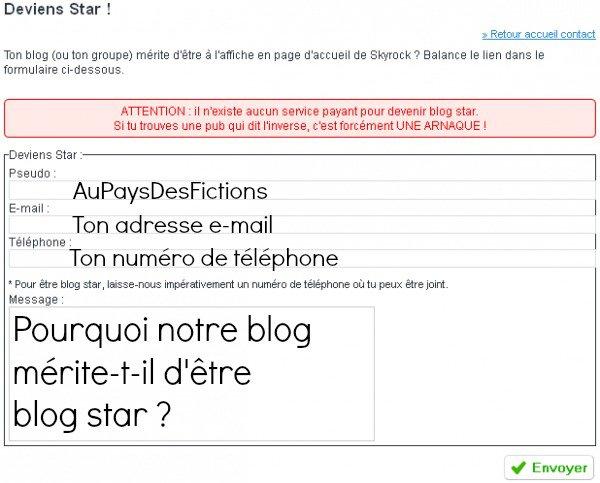 Aidez nous à devenir blog star !♥