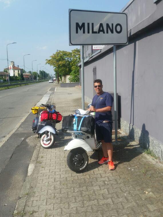 Vespa trip Yverdon-Alba-alassio-Milan-La Tzoumaz-Yverdon 1354km