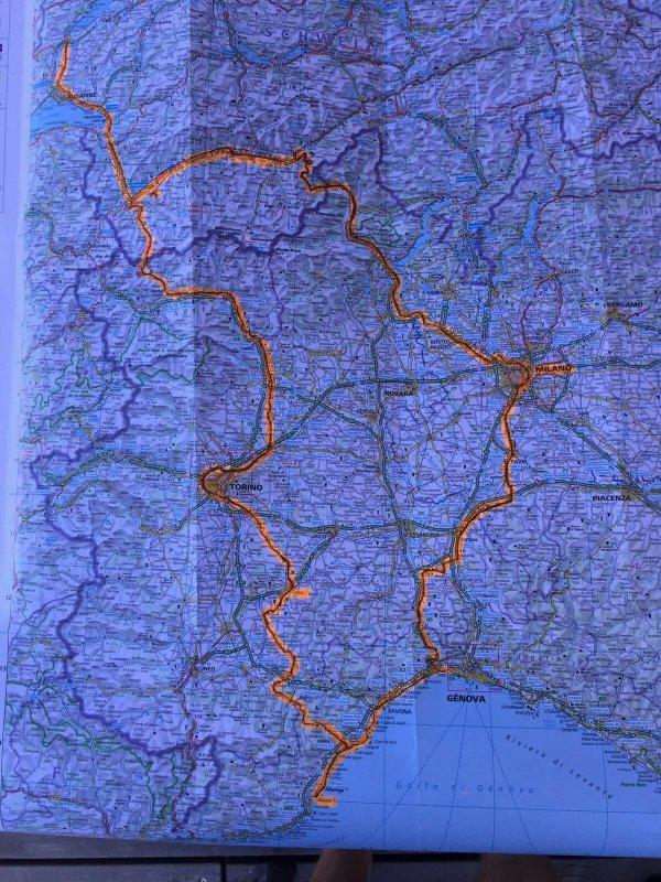 Vespa trip Yverdon-Alba-alassio-Milan-La Tzoumaz-Yverdon 1354 km