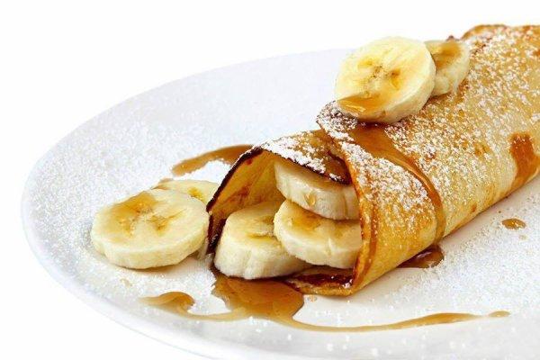 Crêpe caramel banane