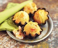 madeleine aux crevettes et au curry