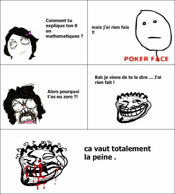 Maths + Rien foutre = 0...