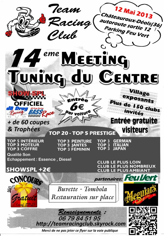 14eme Meeting du Team Racing Club le 12 Mai 2013