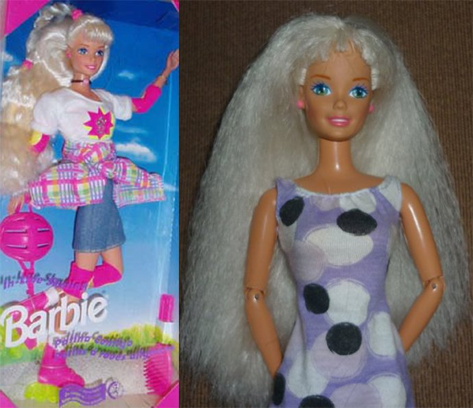 1996 barbie skating 1 euro