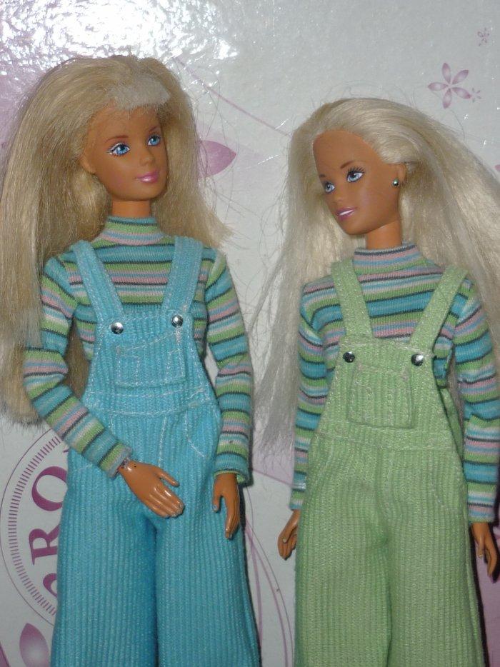 1997 Barbie cool colors blue et skipper à vendre ( 5 euros)