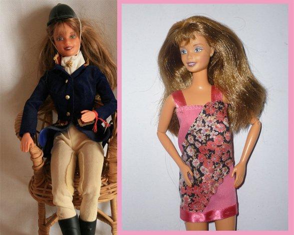 1998 barbie cavalière 1 euro