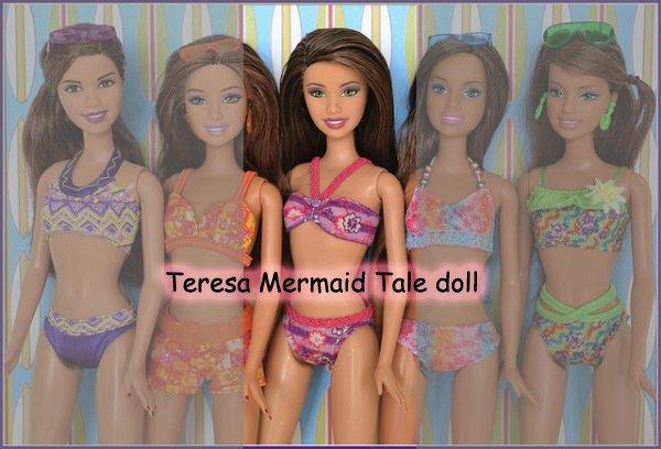 2012 Teresa Mermaid Tale doll (je possède également la brune tout à gauche) 1 euro