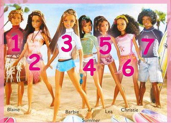 Barbie Cali girl 2001 je possède également 3 fois léa, les quatre pour 20 euros