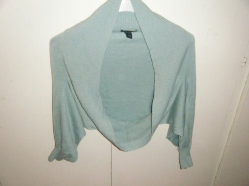 Boléro turquoise H&M