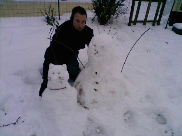 moi et mes bonhomme de neige