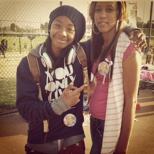Ray Ray with the fans