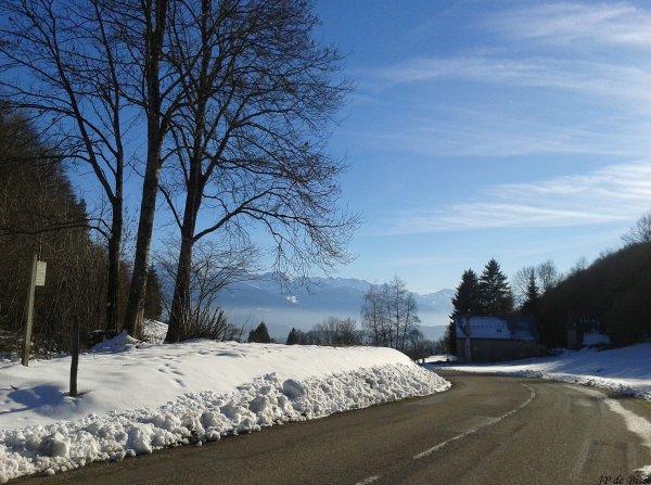 2014, le 22 janvier. Objectif, le col du Frêne pour côtoyer la neige !