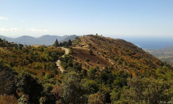 2017, le 20 septembre. Sur les hauteurs de Propriano, le col de Siu.