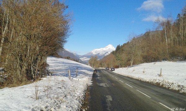 2019, le 15 janvier. La neige s'invite au col du Frêne.