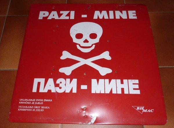 panneau mines Bosnie