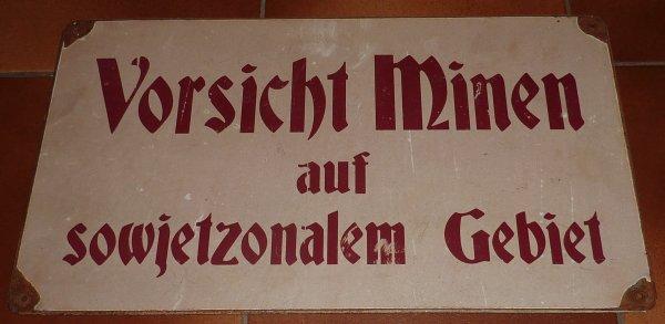 Réédition de panneau mines Allemand