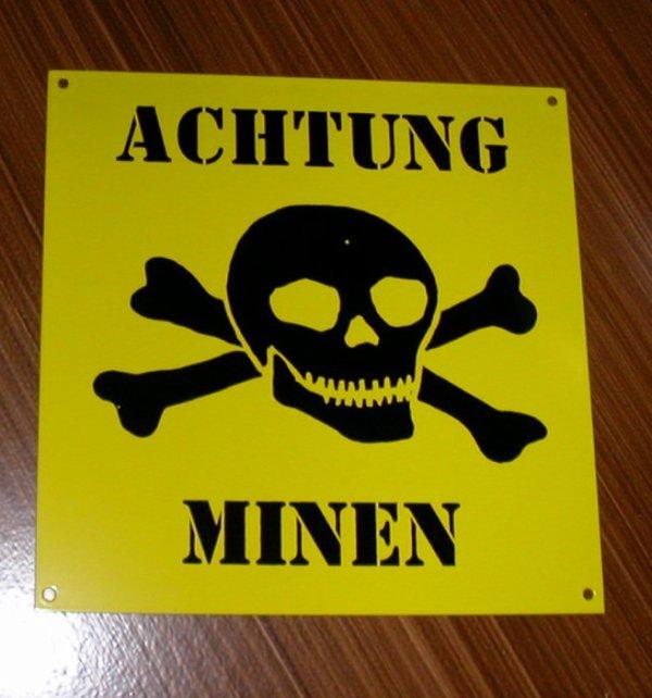 ré édition de panneau allemand
