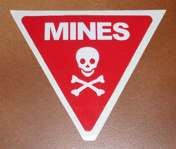 Autocollant Mines Italien