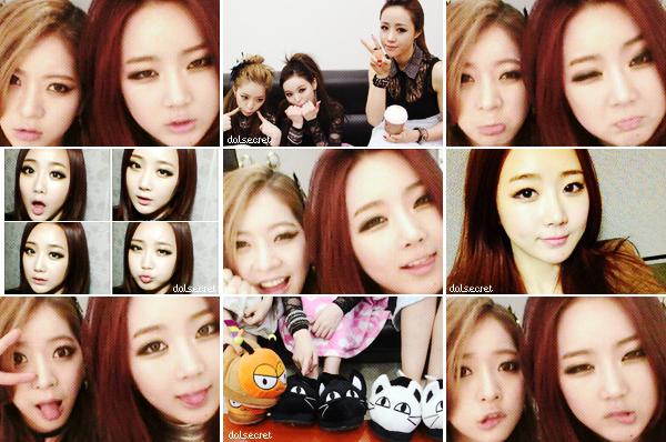 SECRET at M-ON ; Photos personnel des Dal★Shabet ; Talk + Hit U - Dal★Shabet (Music Island) ; Jiyul (Dal★Shabet) and Park Sang Hyuk in 'Her Story'