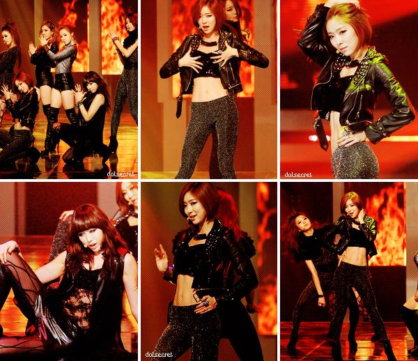 Photo des Dal★Shabet par Segye ; Dal★Shabet on M! Countdown ; Photo des SECRET pour les goodies de leur tournée