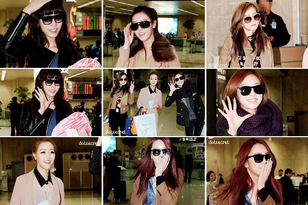 Performance et photos de HyoSung - Crazy In Love & Naughty Girl (Beyonce) ; Dal★Shabet à l'aéroport ; Hit U - Dal★Shabet (WakeK)
