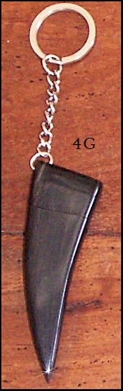CLE USB EN CORNE modèle pointe longue foncée