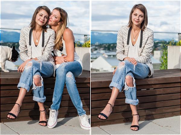 Août 2014: Willa s'est faite photographiée en compagnie de Katie Cassidy pour le site de cette dernière: Tomboy KC.