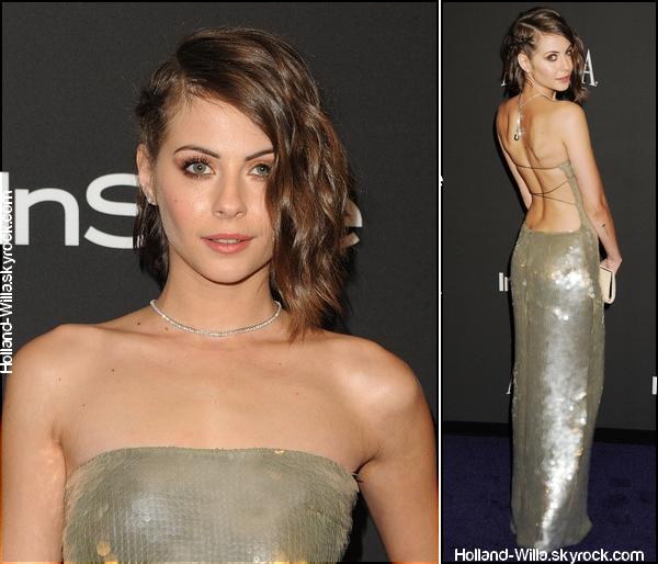 11/01/15: Première sortie de l'année pour Willa, elle s'est rendue à l'after party des Golden Globes.