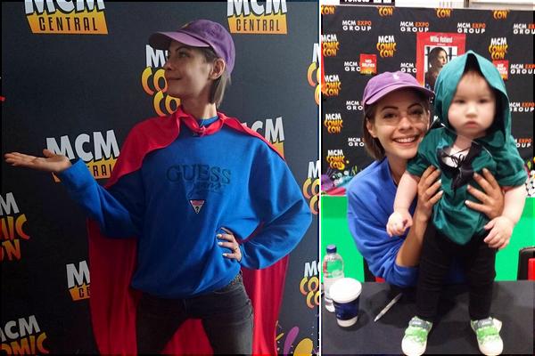 28/05/16: Willa vêtue d'un sweat bleu Guess et de sa casquette Ralph Lauren violette, s'est rendue à la MCM Comic Con de Londres.