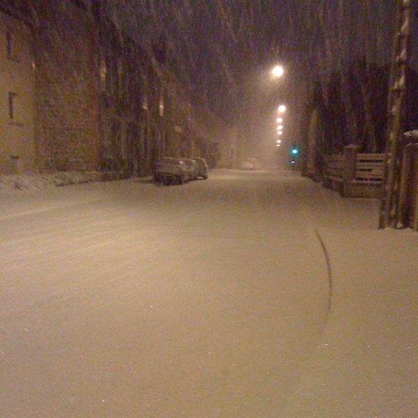 ma rue plein de neige