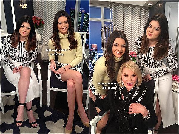.                                                                                                                 09/01/2014 : Kendall se rendant à E! Entertainment, elle et Kylie étaient des guest dans la Fashion Police.                             .