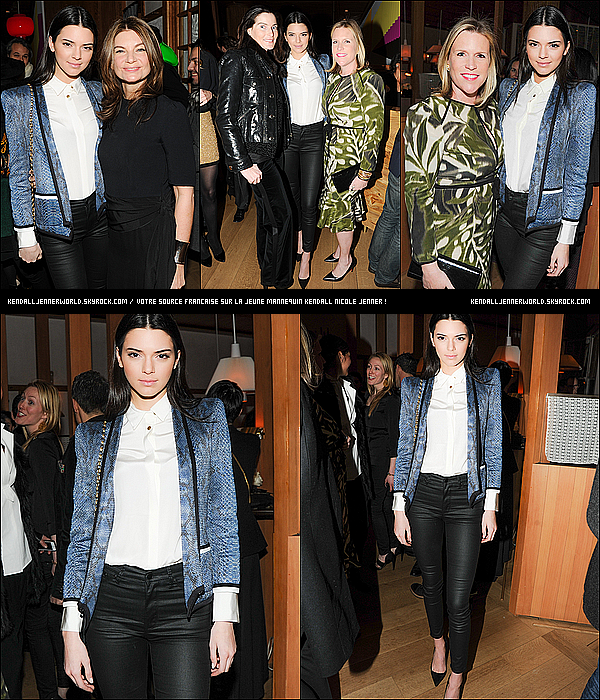 .                                                                                                                 07/02/2014 : Kendall Jenner à la launch party du magazine PORTER Magazine à New-York.                           .