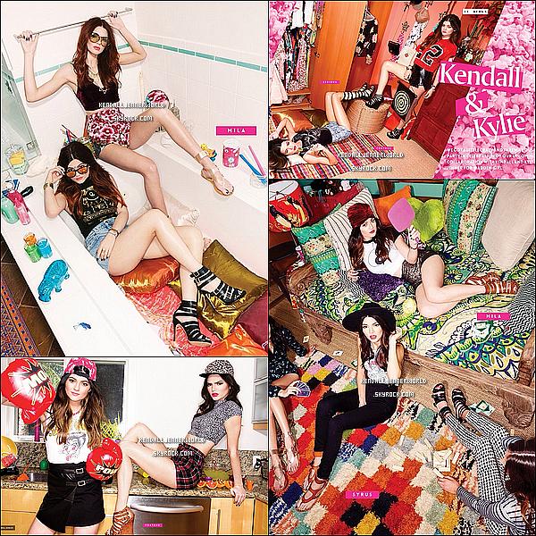 .                                                                                                                 Kendall posant pour Vogue Magazine dans une chambre d'hôtel.                             .