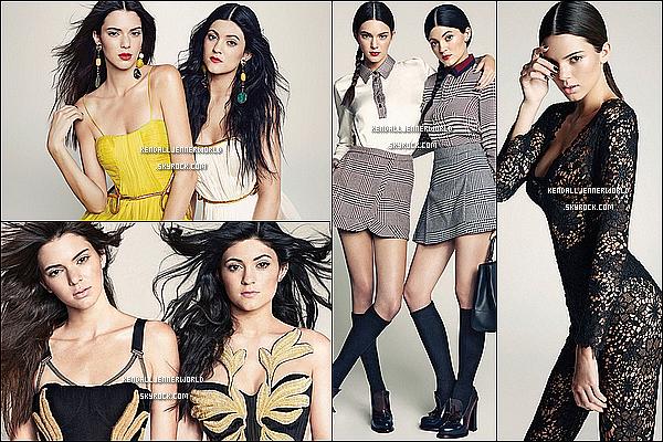 .                                                                                                                 Kendall et Kylie Jenner en couverture du Marie-Claire édition Mexique.                             .