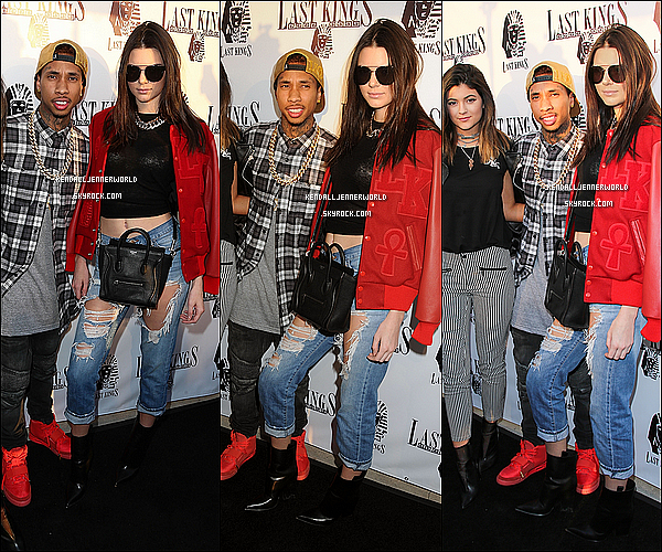 .                                                                                                                 20/02/2014 : Kendall et Kylie à l'ouverture du magasin de Tyga ; Last Kings à West Hollywood en Californie.                          .