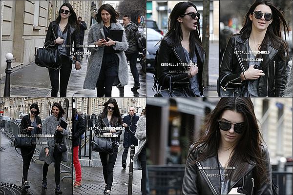 .                                                                                                                 27/02/2014 : Plus tard dans la journée Kendall a été vu en balade touristique dans la capitale française, Paris                         .