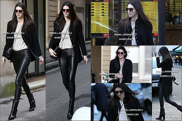.                                                                                                                 28/02/2014 : Kendall a été aperçue se rendant à Elite Paris dans l'après-midi pour réaliser un photoshoot.                         .